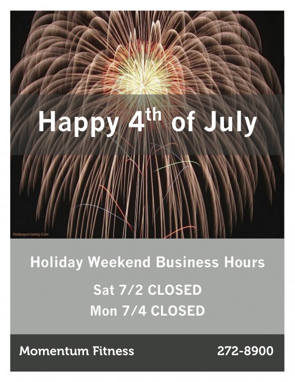 4th of July Hours Sign