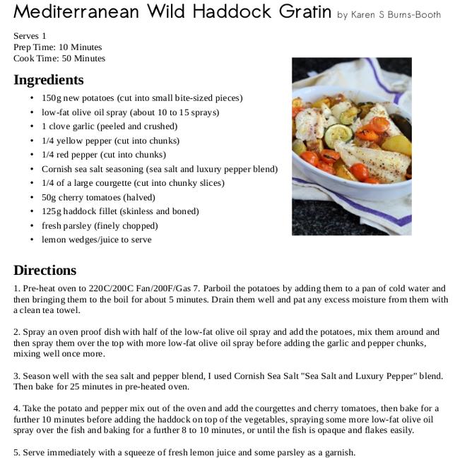 Mediterreanean Wild Haddock Gratin