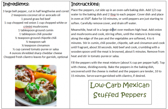 Low-Carb Mexican Stuffed Peppers