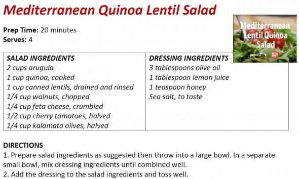 Mediterranean Quinoa Lentil Salad